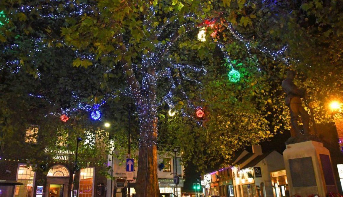 Stone Christmas Tree Lights