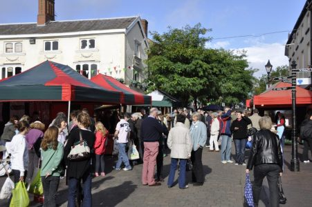 Stone High Street Market crowds